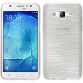 Silikon Hülle Galaxy J7 brushed weiß + 2 Schutzfolien