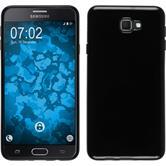 Silikon Hülle Galaxy J7 Prime  schwarz + 2 Schutzfolien