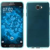 Silikon Hülle Galaxy J7 Prime transparent türkis + 2 Schutzfolien