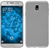 Silikon Hülle Galaxy J7 Pro transparent Crystal Clear + 2 Schutzfolien