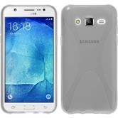 Silikon Hülle Galaxy J7 X-Style clear + 2 Schutzfolien