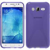 Silikon Hülle Galaxy J7 X-Style lila + 2 Schutzfolien