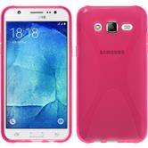 Silikon Hülle Galaxy J7 X-Style pink + 2 Schutzfolien