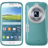 Silicone Case for Samsung Galaxy K Zoom transparent turquoise