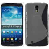 Silikonhülle für Samsung Galaxy Mega 6.3 S-Style grau