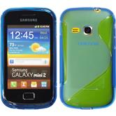Silicone Case for Samsung Galaxy Mini 2 S-Style blue