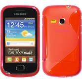 Silicone Case for Samsung Galaxy Mini 2 S-Style hot pink