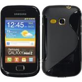 Silikonhülle für Samsung Galaxy Mini 2 S-Style schwarz
