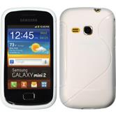 Silicone Case for Samsung Galaxy Mini 2 S-Style white