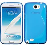 Silikon Hülle Galaxy Note 2 S-Style blau