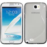 Silicone Case for Samsung Galaxy Note 2 S-Style gray