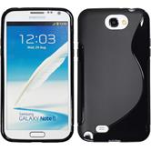 Silicone Case for Samsung Galaxy Note 2 S-Style black