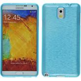Silikonhülle für Samsung Galaxy Note 3 brushed blau