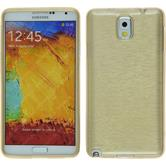 Silicone Case for Samsung Galaxy Note 3 brushed gold
