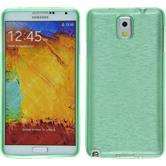 Silicone Case for Samsung Galaxy Note 3 brushed green