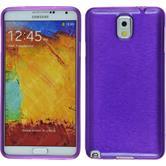 Silikon Hülle Galaxy Note 3 brushed lila + 2 Schutzfolien