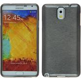 Silicone Case for Samsung Galaxy Note 3 brushed silver
