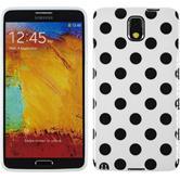 Silikon Hülle Galaxy Note 3 Polkadot Design:06