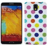 Silikon Hülle Galaxy Note 3 Polkadot Design:12