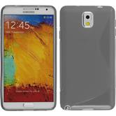 Silicone Case for Samsung Galaxy Note 3 S-Style gray
