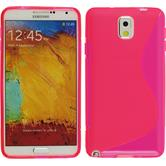 Silicone Case for Samsung Galaxy Note 3 S-Style hot pink