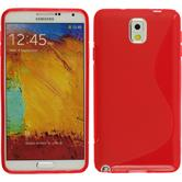 Silicone Case for Samsung Galaxy Note 3 S-Style red