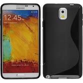 Silicone Case for Samsung Galaxy Note 3 S-Style black