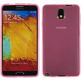 Silicone Case for Samsung Galaxy Note 3 transparent pink