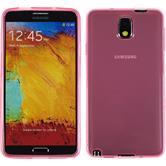 Silikon Hülle Galaxy Note 3 transparent rosa + 2 Schutzfolien