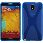 Silicone Case for Samsung Galaxy Note 3 X-Style blue