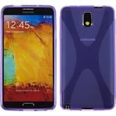 Silicone Case for Samsung Galaxy Note 3 X-Style purple