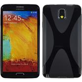 Silicone Case for Samsung Galaxy Note 3 X-Style black