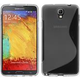 Silikon Hülle Galaxy Note 3 Neo S-Style grau Case