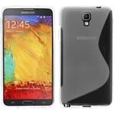 Silicone Case for Samsung Galaxy Note 3 Neo S-Style transparent
