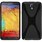 Silikonhülle für Samsung Galaxy Note 3 Neo X-Style schwarz