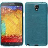 Silikonhülle für Samsung Galaxy Note 3 Neo brushed blau