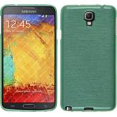 Silikon Hülle Galaxy Note 3 Neo brushed grün + 2 Schutzfolien