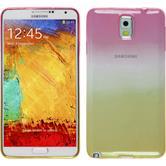 Silikon Hülle Galaxy Note 3 Ombrè Design:01 + 2 Schutzfolien