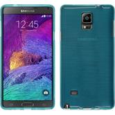 Silicone Case for Samsung Galaxy Note 4 brushed blue