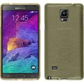Silicone Case for Samsung Galaxy Note 4 brushed gold