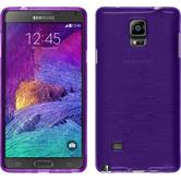 Silicone Case for Samsung Galaxy Note 4 brushed purple