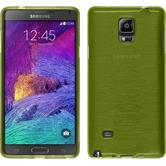 Silicone Case for Samsung Galaxy Note 4 brushed pastel green