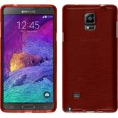 Silicone Case for Samsung Galaxy Note 4 brushed red