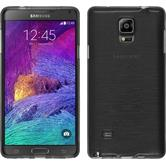 Silikonhülle für Samsung Galaxy Note 4 brushed silber