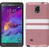 Silikon Hülle Galaxy Note 4 Stripes rosa