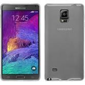 Silikon Hülle Galaxy Note 4 transparent weiß + 2 Schutzfolien
