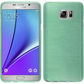 Silikon Hülle Galaxy Note 5 brushed grün + 2 Schutzfolien
