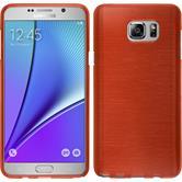 Silikon Hülle Galaxy Note 5 brushed rot + 2 Schutzfolien
