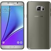 Silikon Hülle Galaxy Note 5 Slimcase grau