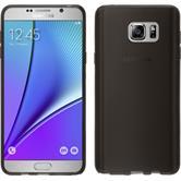 Silikon Hülle Galaxy Note 5 transparent schwarz + 2 Schutzfolien
